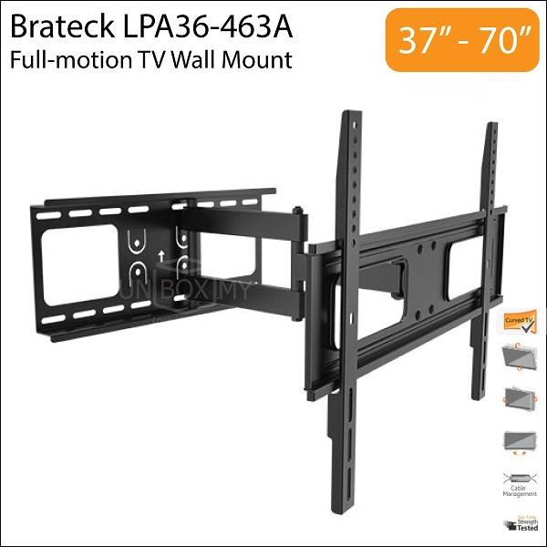 Brateck Lpa36 463a 37 70 Inch Full Motion Tv Wall End 2