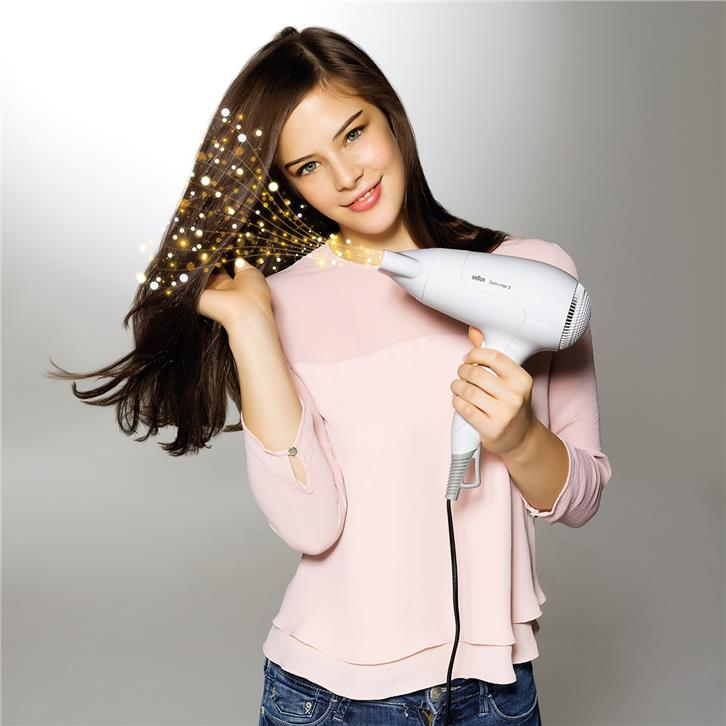 Braun Hair Dryer Satin Hair 3 HD380 2000W Light & Powerful