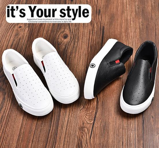 Breathable Casual PU Leather Tommy Sneakers Slipon