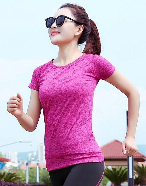 Breathable Quick Dry Ladies' Sport T-shirt (Rose Red)