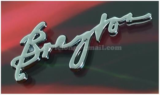 Bregfor 3D Chrome Car Badge Decal Emblem Trunk Side Logo Replacement A