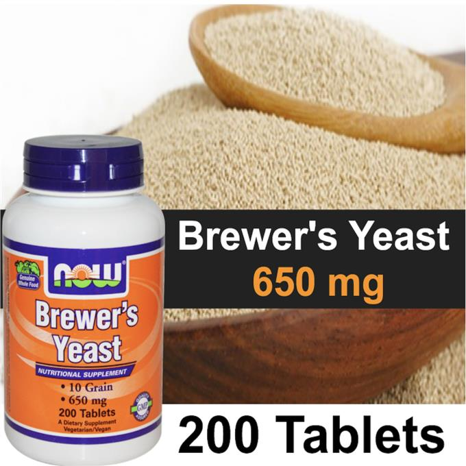 Brewer's Yeast 650mg, 200 Tablets, 100% Vegetarian, Diabetes (USA)