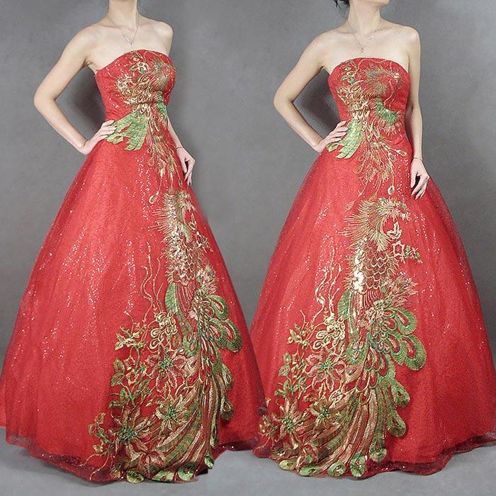 Bridal Dinner Gown Phoenix EmbroideryRoyal RedWe End 9 1 2016