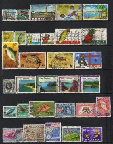 British Commenwealth stamps Malaya QE selection BJ199