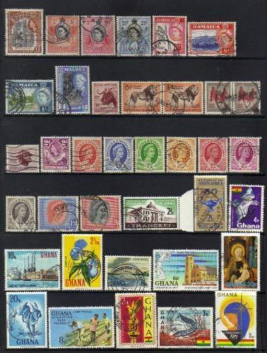 British Commenwealth stamps QEII selection 1950 BJ173