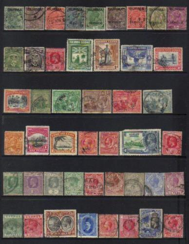 British COMMONWEALTH KGV 1910+ USED SELECTION BJ261
