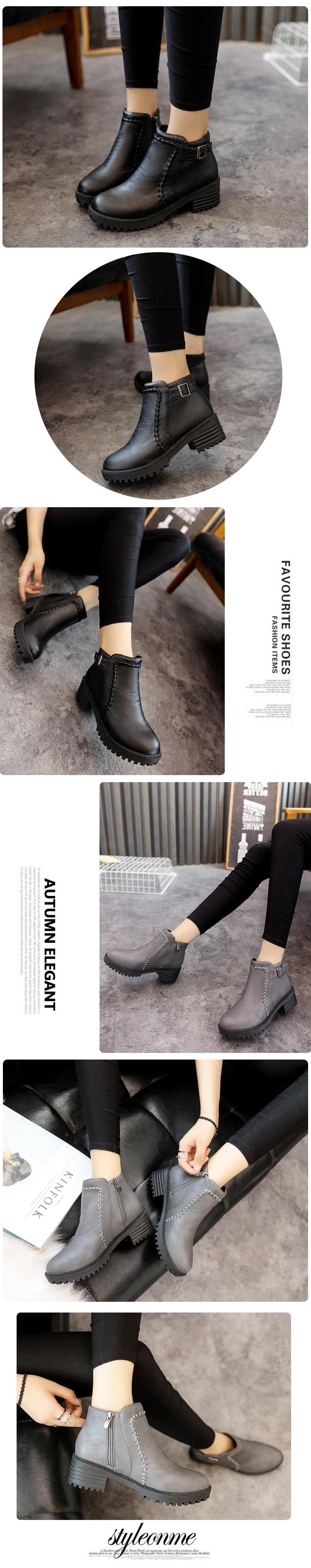 British Fashion Women Classic Zipper Martin Boots
