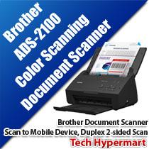 BROTHER ADS-2100 COLOR DOCUMENT SCANNER