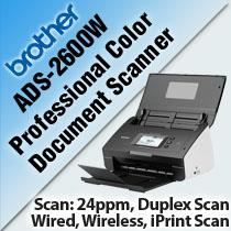 BROTHER ADS-2600W PRO COLOR DOCUMENT SCANNER