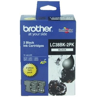 BROTHER INK LC-38BK2BK BLACK TWIN PACK