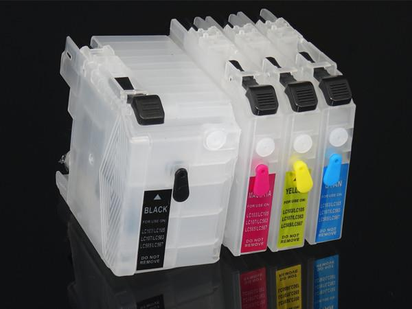 Brother LC-535/539 Compatible Short Refillable Ink Cartridge Set