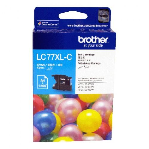 BROTHER LC-77XL CYAN INK CARTRIDGE