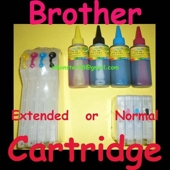 Brother LC11 LC16 LC38 LC61 LC65 LC67 Refillable Ink Cartridge CISS
