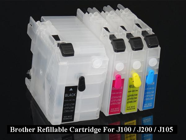 Brother Refillable Cartridge LC539 For J100 J200 J105