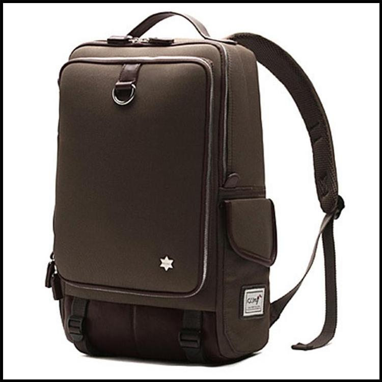 Brown Premium Slick Leisure Laptop Backpack Casual School Bag
