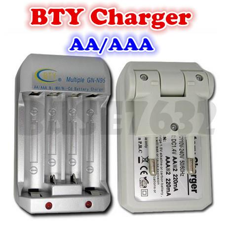 BTY Rechargeable Battery Charger AA / AAA