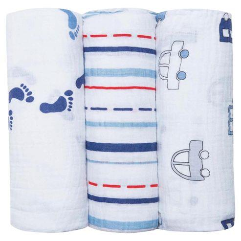 Bubble Muslin Swaddle Wraps 120cmx120cm 3pcs