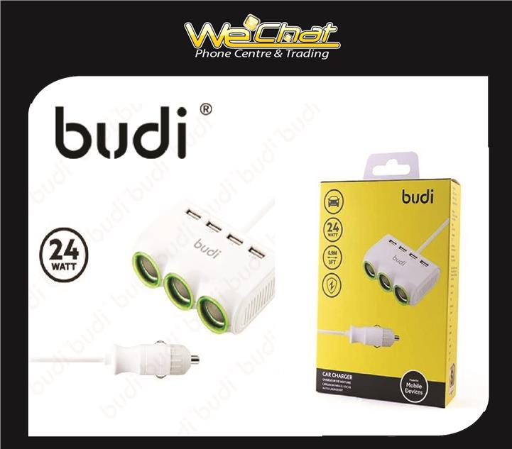 Budi 4 USB Car Charger Vehicle Charging Distributor(Model M8j650)