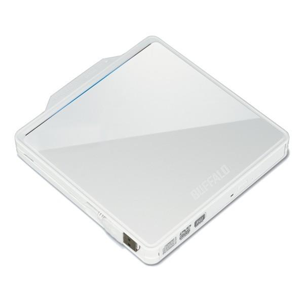 BUFFALO 8X DVD-RW USB2.0 EXTERNAL OPTICAL DRIVE (DVSM-PC58U2VW) WHT