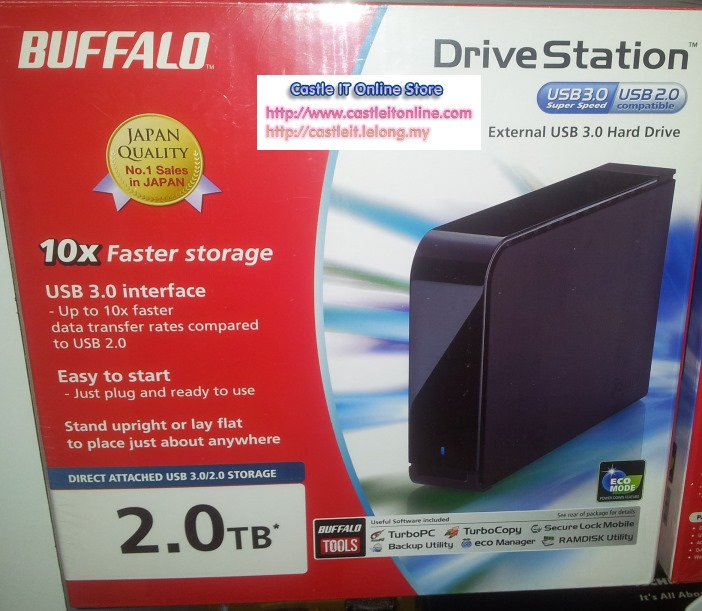 Buffalo DriveStation USB3 + USB2 2TB 3.5 External HDD (HD-LB2.0TU3)