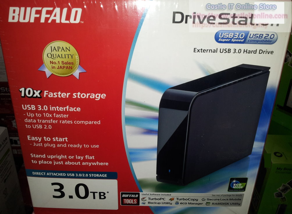 Buffalo DriveStation USB3 + USB2 3TB 3.5 External HDD (HD-LB3.0TU3)