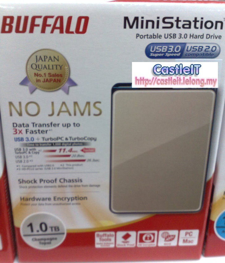 Buffalo Ministation Plus 1TB GOLD 2.5 Portable HDD (HD-PNT1U3G)