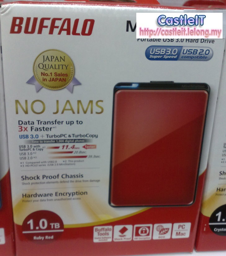 Buffalo Ministation Plus 1TB RED 2.5 Portable HDD (HD-PNT1U3R)