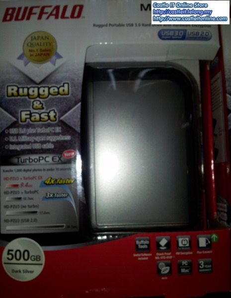 Buffalo MiniStation Extreme 500GB SILVER 2.5 Portable HDD HD-PZ500U3S