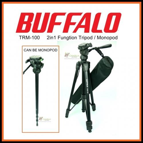 Buffalo TRM-100 Professional Travel Camera Tripod and Become Monopod