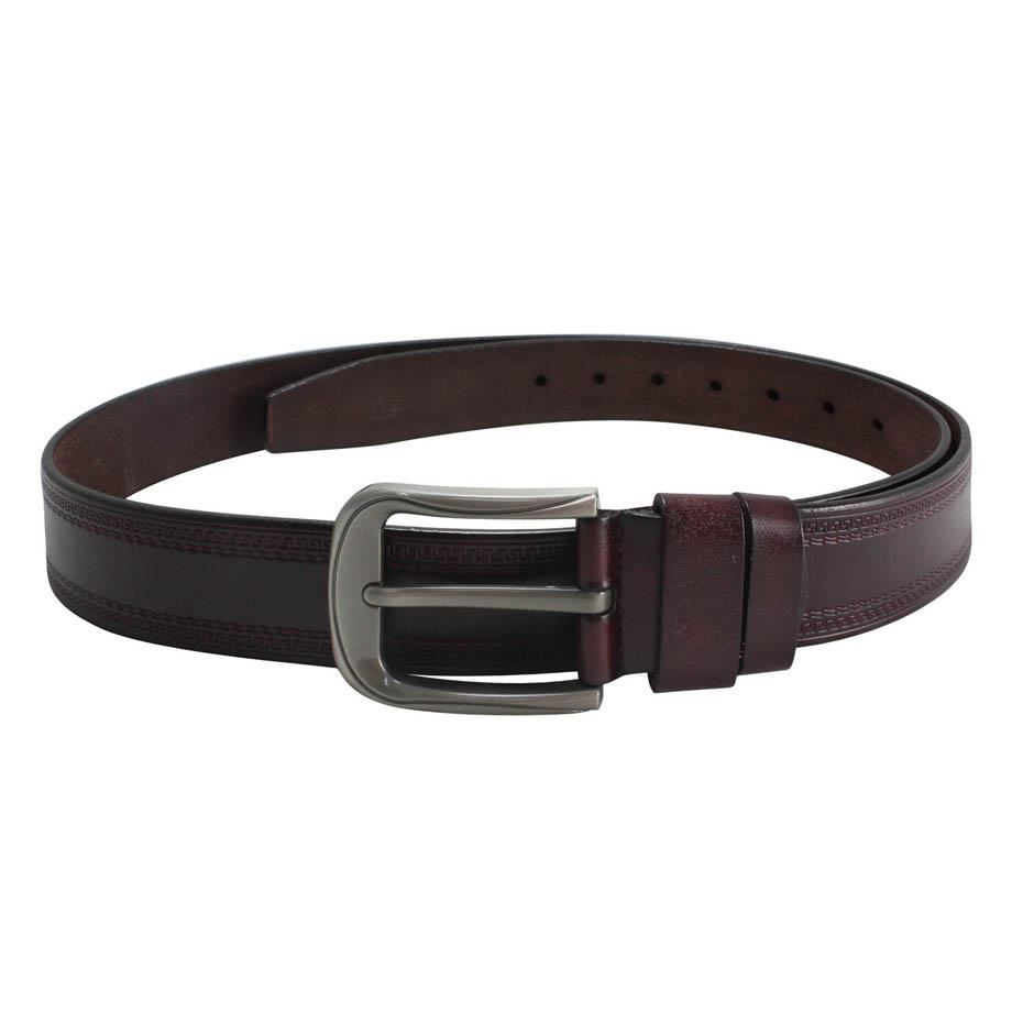BULL RYDERS Classic Leather Belt BRB-DP3112B Maroon