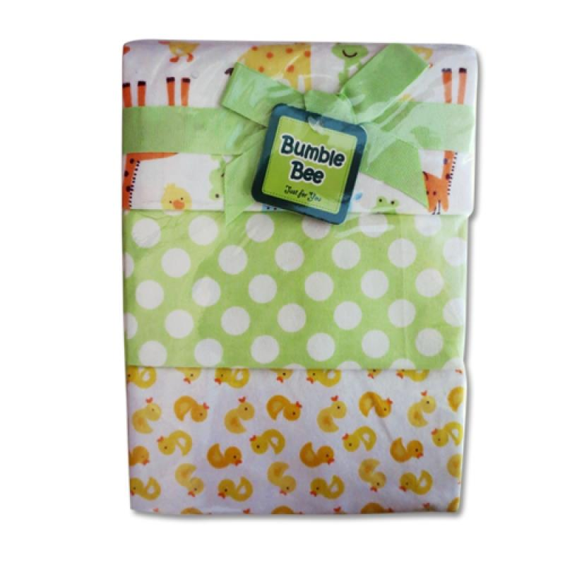 Bumble Bee Receiving Blanket for Baby (3 pcs) - Green Giraffe