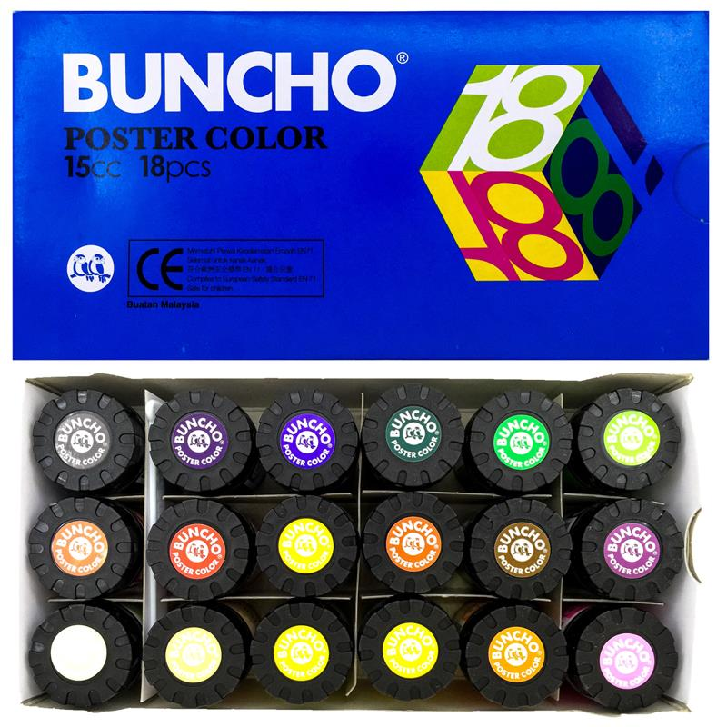 Buncho Poster Colour 15CC 18Pcs