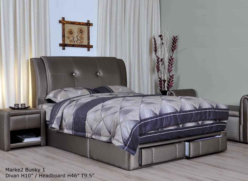 Bunky upholstered storage di end 10 26 2014 5 15 pm myt for Divan bed frame sale