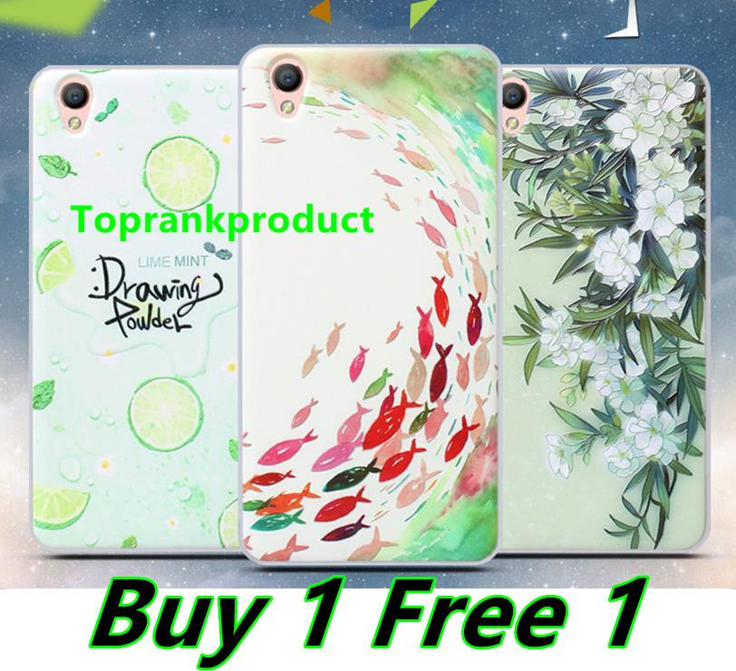 Buy 1 Free 1 @ OPPO Neo 9 A37 3D Silicone Soft Case Cover Casing