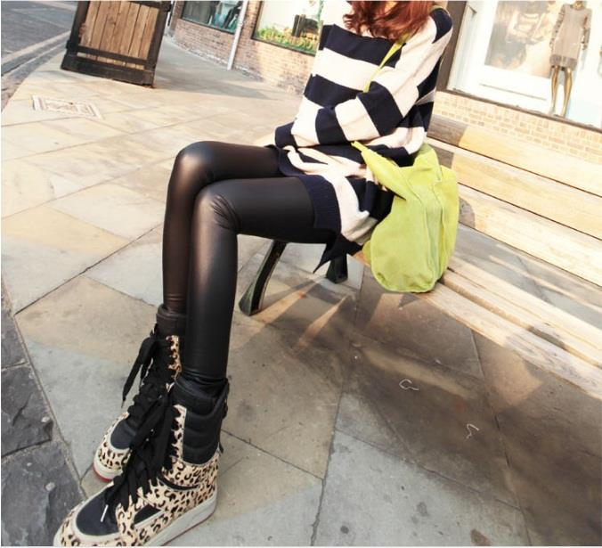 BUY 1 FREE WINTER GLOVE Fall/Winter Legging Leather Pants