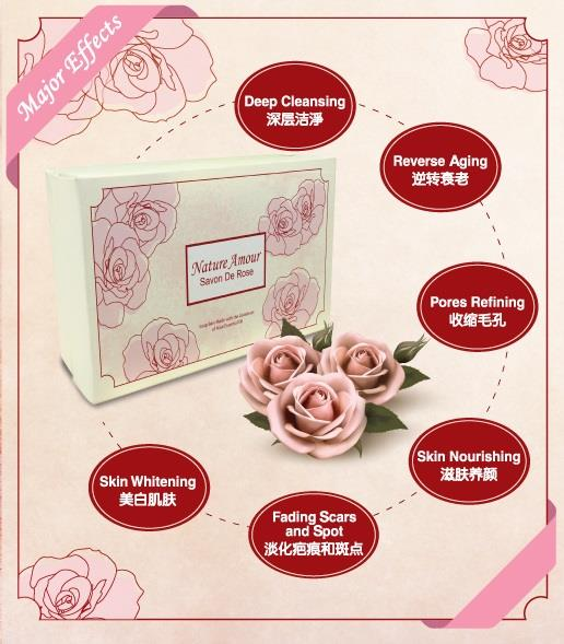 [Buy 2 Box FREE 2 Box] Nature Amour Savon De Rose