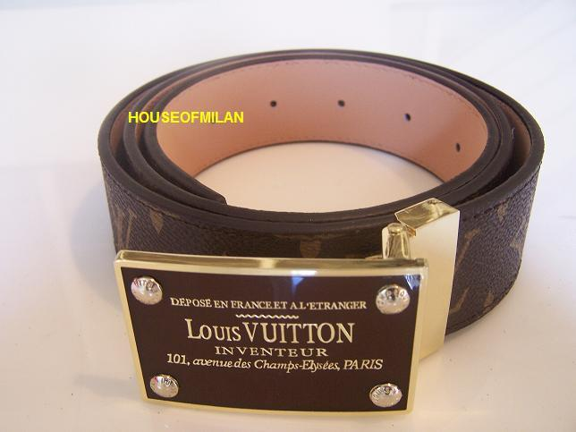 BUY ANY BELT + WALLET ONLY RM600!! SUPER GRADE 9A LV Monogram Golden (005)