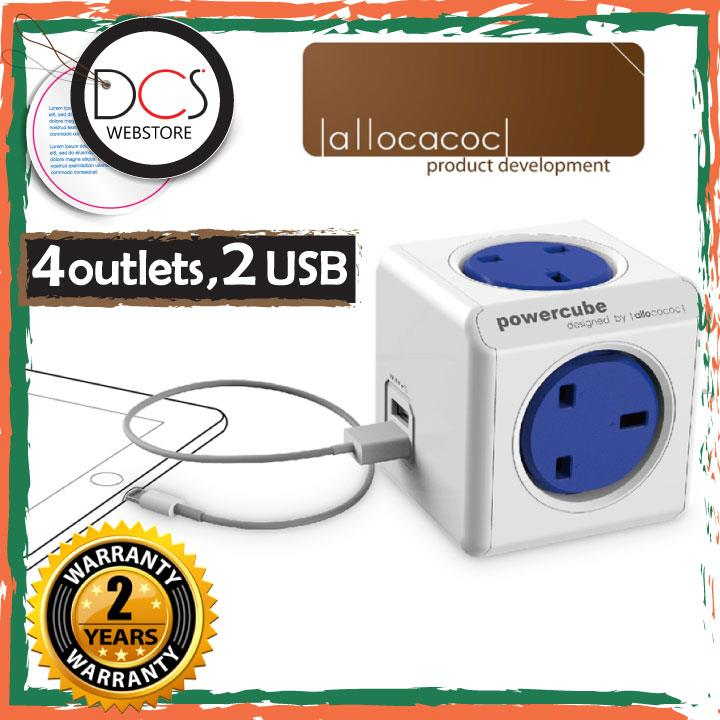 [MUST BUY ITEM]Allocacoc 7200 Powercube Original 2xUSB Surge Protector