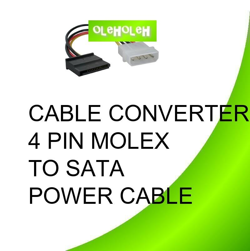 Cable Converter Molex 4Pin (M) To SATA (F) Power Cable