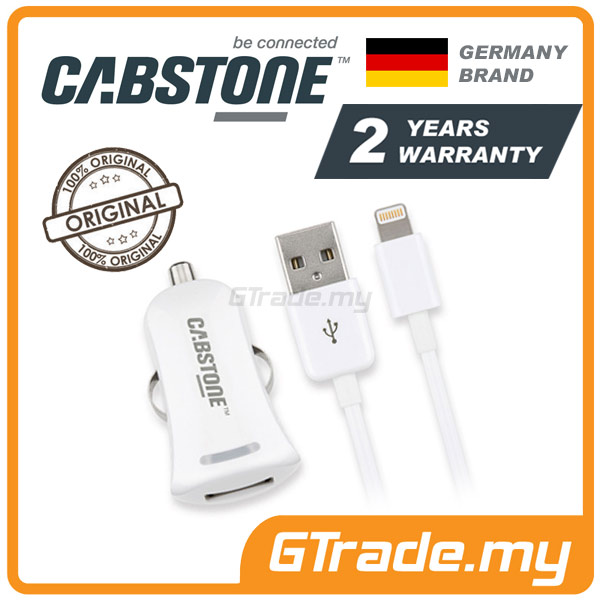 CABSTONE 2.1A Car Charger Cable Lightning Apple iPad Air Mini 4 3 2 1