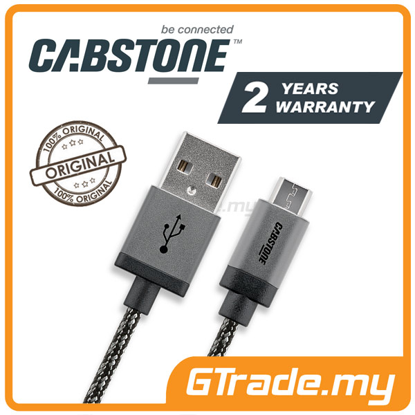 CABSTONE 30CM Metal Charger Micro USB Cable Samsung Galaxy S5 S4 S3 S2