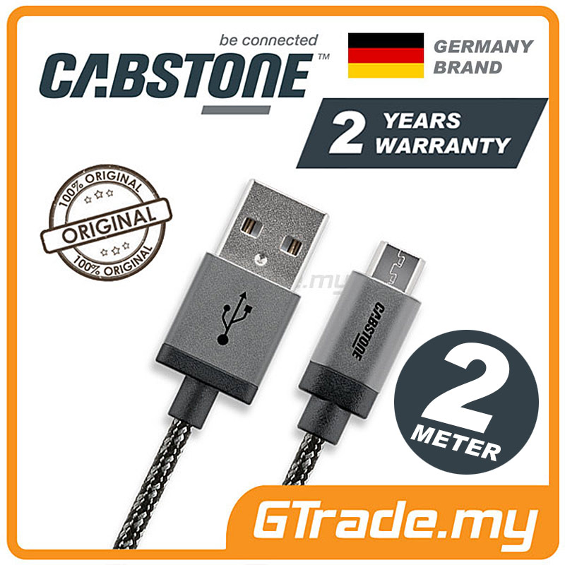 CABSTONE Metal Charger Micro USB 2M Samsung Galaxy S7 Edge S6 S5 S4 S3
