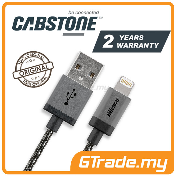 CABSTONE Metal Sync Charger USB Cable Lightning Apple iPhone SE 5S 5