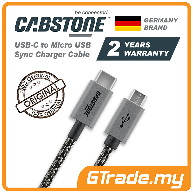 CABSTONE Metal USB-C to Micro USB Cable Samsung Galaxy Note Tab S 10.1