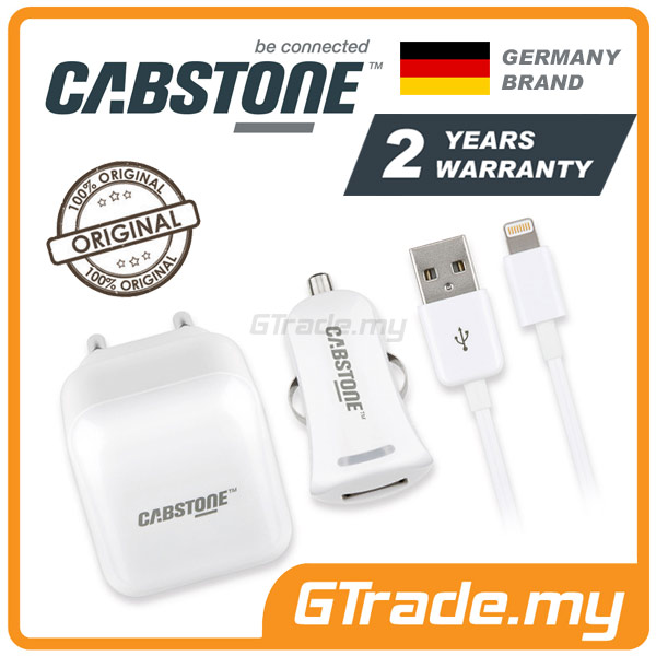 CABSTONE Travel Car Cable Charger Lightning | Apple iPhone 5S 5C 5