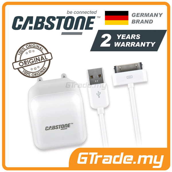 CABSTONE Travel Wall Cable Charger 30-PIN | Apple New iPad 3 2 1 iPod