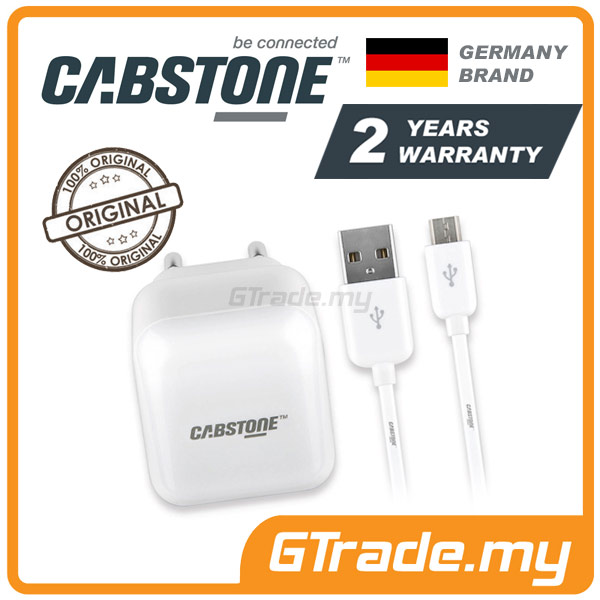 CABSTONE Travel Wall Micro USB Cable Charger Samsung Galaxy S6 Edge S5