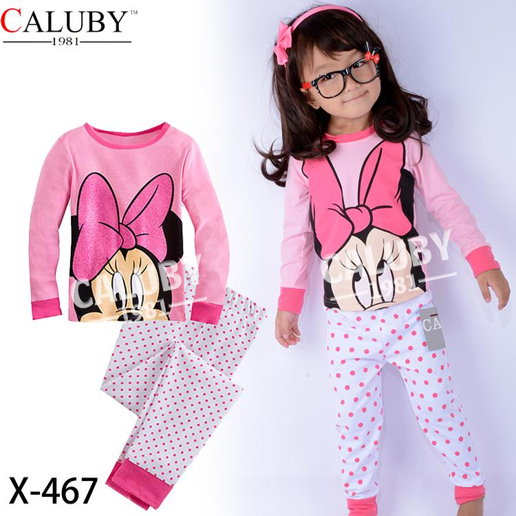 Caluby Pink Disney Minnie Mouse Kids Pyjamas/ sleeping wear