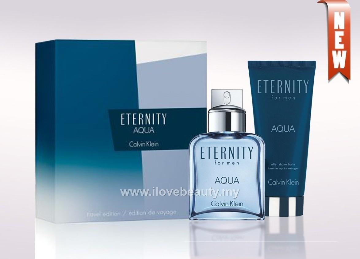 CALVIN KLEIN CK ETERNITY AQUA SET - MEN EDT 100ml *ORIGINAL PERFUME*