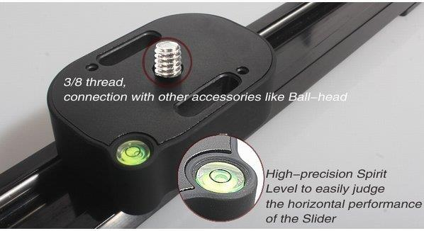 Camera Video Slider with Ball Bearing 80cm